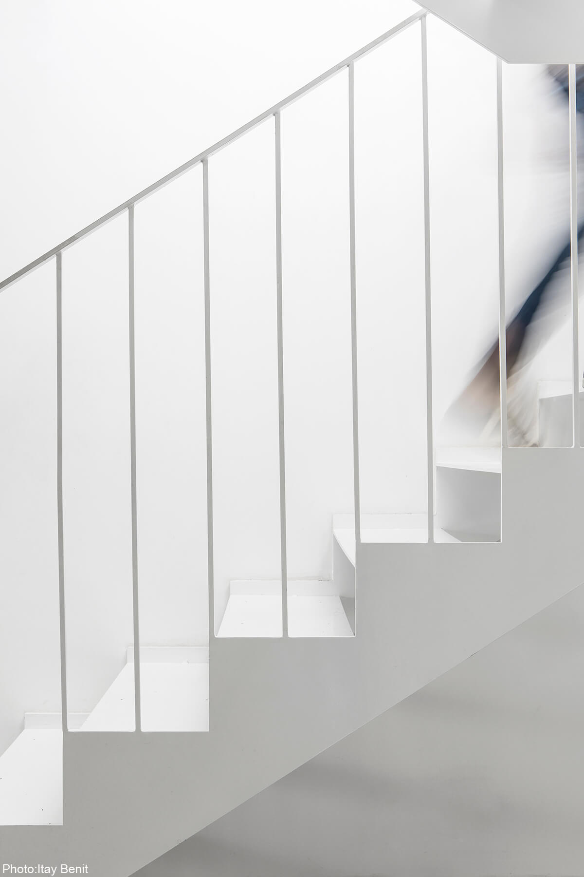 White stairs by Roni Bartal
