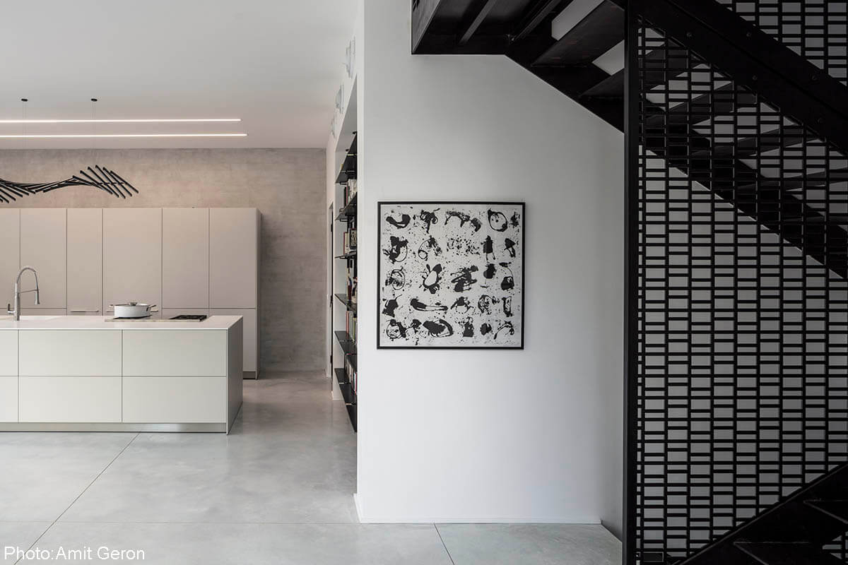 Black&white image Architecture and interior design by Tal Goldsmith Fish