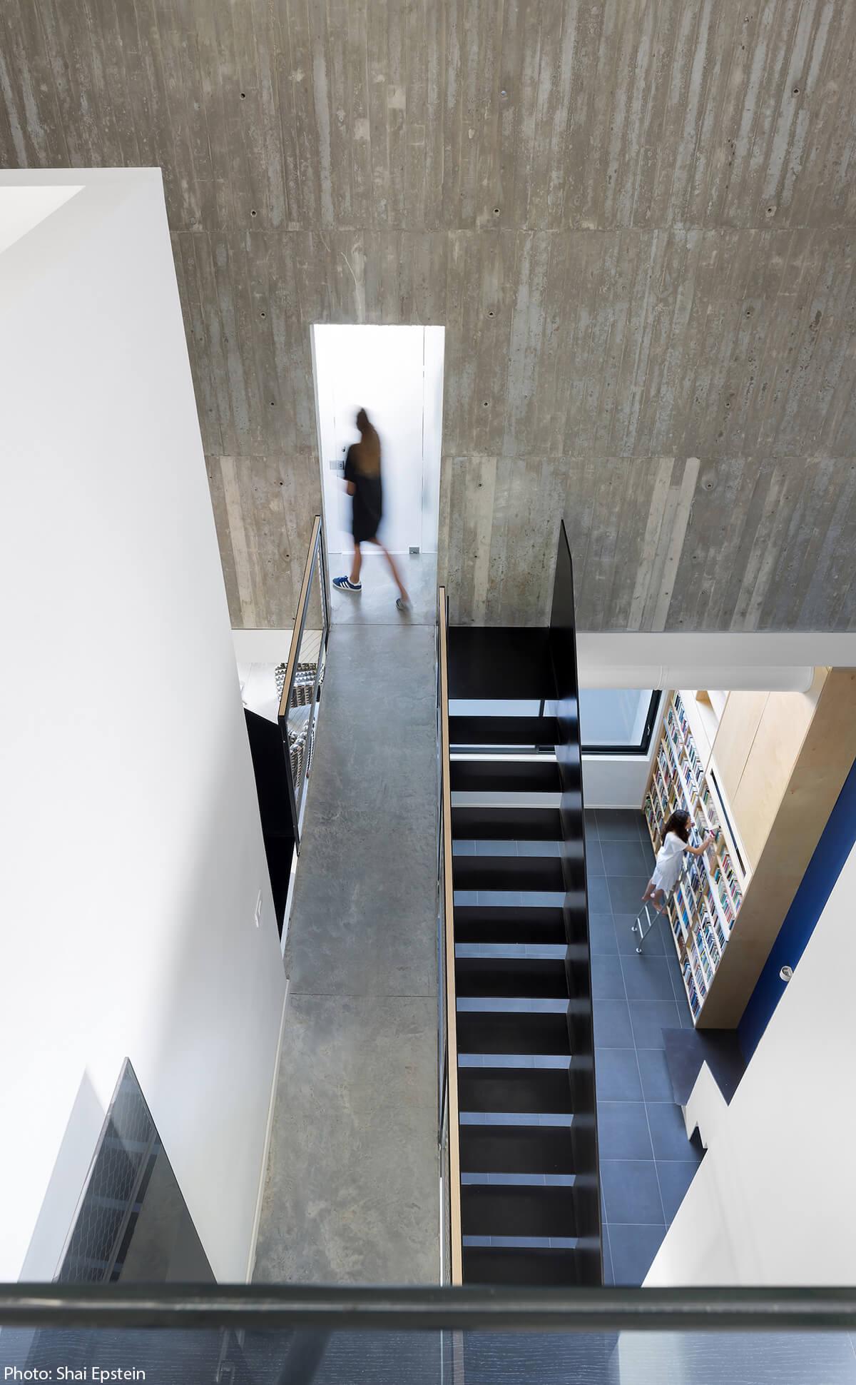 Amazing steel stairs, designed by Architect Adi Wainberg.