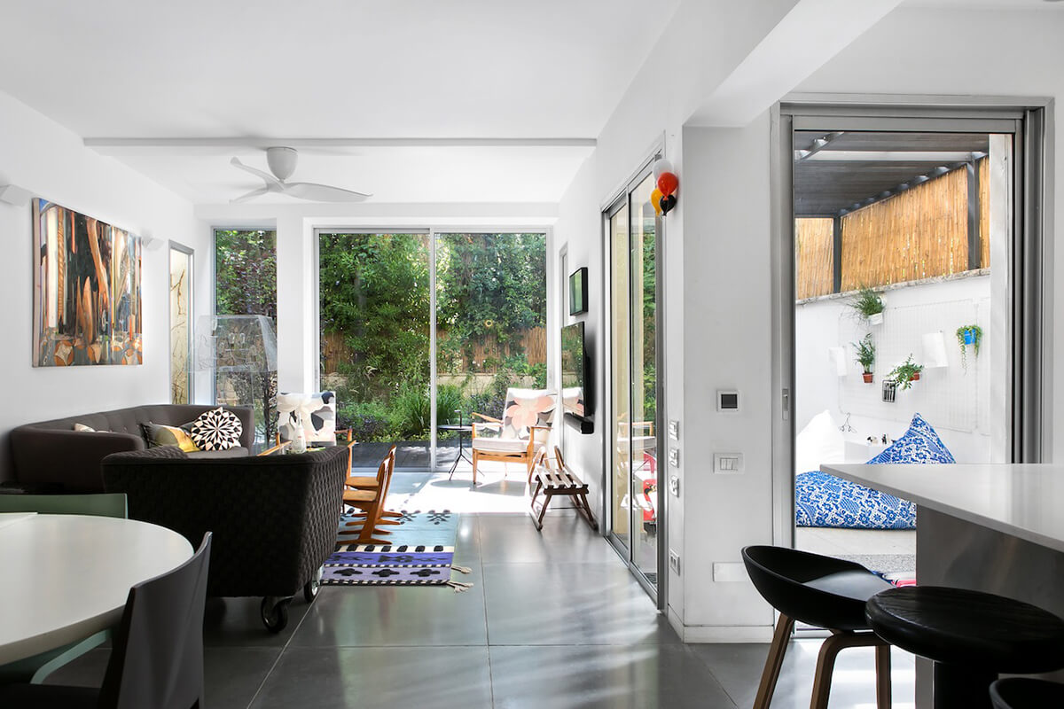 Interior design of a garden apartment in Tel Aviv
