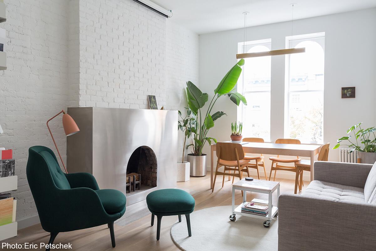 Interior design of small apartment in Chelsea new york city