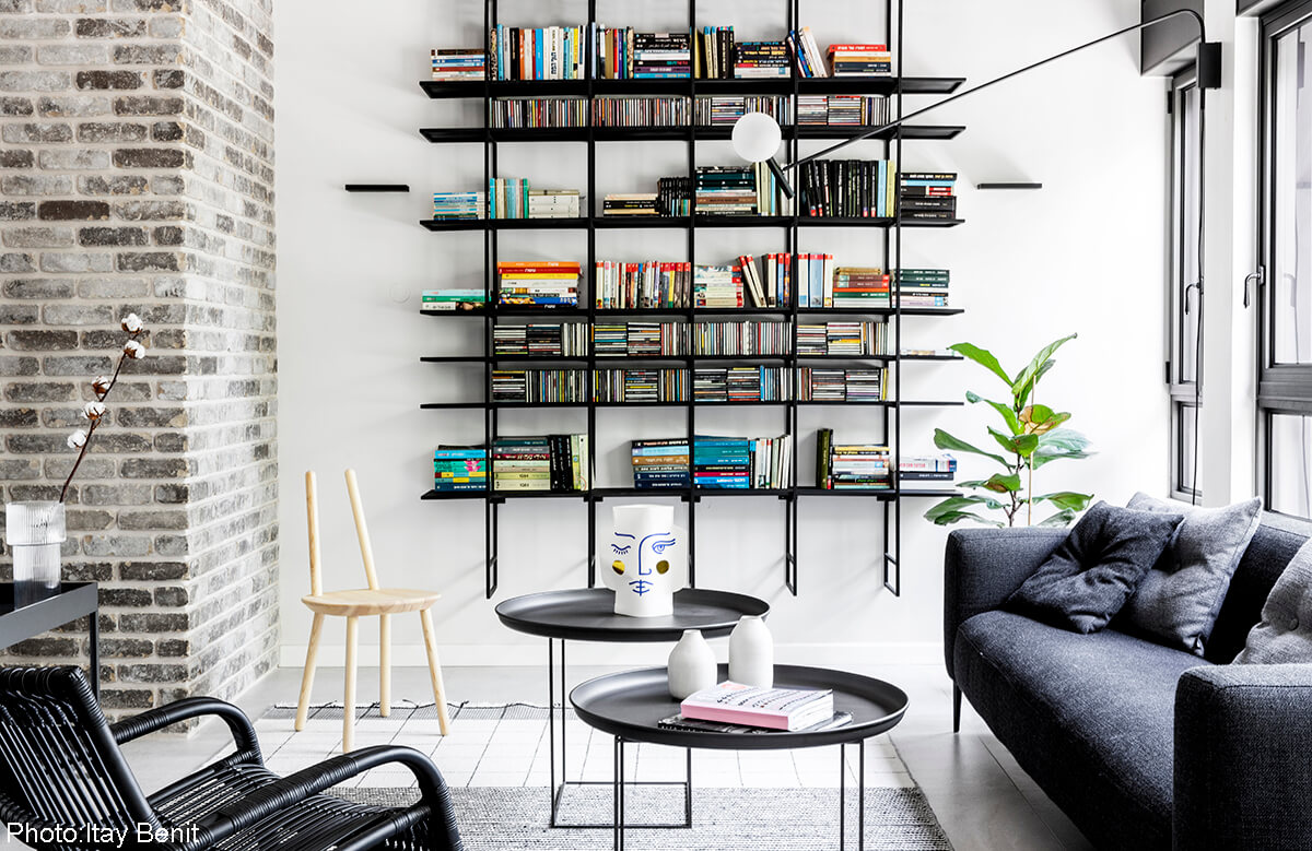 Custom steel bookshelves