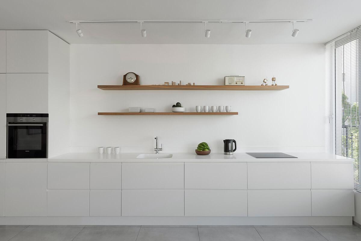 Modern white contemporary and minimalist kitchen designs